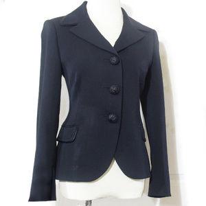 Cinzia Rocca Black Web Trim Blazer Jacket
